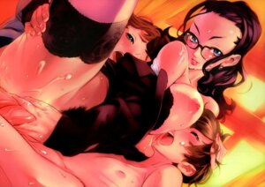 Rating: Explicit Score: 74 Tags: breasts cum gangbang megane nipples nishieda nopan penis pubic_hair sex shota thighhighs User: Nazzrie