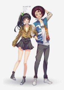 Rating: Safe Score: 0 Tags: dress_shirt kamado_tanjirou kimetsu_no_yaiba ku-ini no_bra open_shirt tsuyuri_kanao User: yanis
