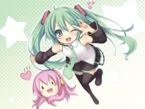 Rating: Safe Score: 44 Tags: hatsune_miku megurine_luka ryo_(botsugo) vocaloid wallpaper User: cattypkung