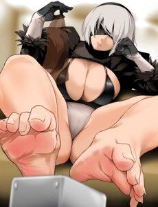 Rating: Questionable Score: 22 Tags: bakkanki bra cameltoe feet nier_automata pantsu thong yorha_no.2_type_b User: BattlequeenYume