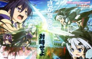 Rating: Safe Score: 19 Tags: date_a_live mecha_musume sword tobiichi_origami yamamoto_shuuhei yatogami_tooka User: omegamax