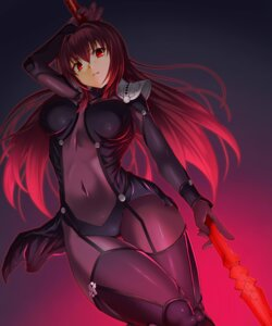 Rating: Questionable Score: 96 Tags: bodysuit emanon_123 fate/grand_order fate/stay_night scathach_(fate/grand_order) weapon User: mash