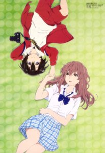 Rating: Safe Score: 55 Tags: koe_no_katachi nishimiya_shouko nishimiya_yuzuru sawa_shinpei seifuku User: drop