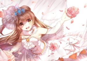 Rating: Safe Score: 21 Tags: cleavage dress kan_(rainconan) love_live! minami_kotori see_through wedding_dress User: sym455