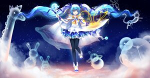 Rating: Safe Score: 29 Tags: althea_(sakiya0000) dress hatsune_miku pantyhose vocaloid yuki_miku User: charunetra