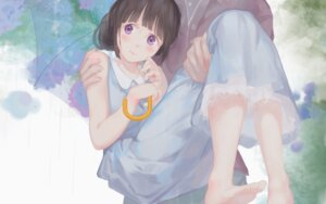 Rating: Safe Score: 51 Tags: chitanda_eru dress feet hyouka jq umbrella wallpaper User: Mr_GT