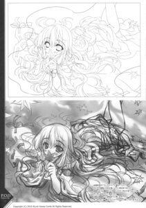 Rating: Safe Score: 7 Tags: kurenai_no_tsuki line_art miko monochrome paper_texture riv saginomiya_hiori sketch soloist User: blooregardo
