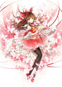 Rating: Safe Score: 62 Tags: hagiwara_rin hakurei_reimu pantyhose touhou User: fairyren