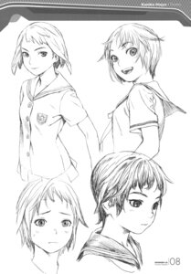 Rating: Safe Score: 7 Tags: character_design houjou_kuniko monochrome range_murata shangri-la sketch User: Share