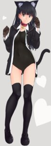 Rating: Safe Score: 70 Tags: amagami animal_ears ayatsuji_tsukasa nekomimi santa swimsuits tail thighhighs User: blooregardo