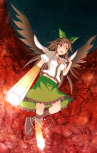 Rating: Safe Score: 0 Tags: daigorou reiuji_utsuho touhou wings User: Yuffie