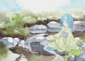 Rating: Safe Score: 17 Tags: kimono mermaid nemi_(caprainl) touhou wakasagihime User: Radioactive