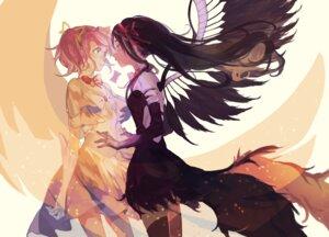 Rating: Safe Score: 29 Tags: akemi_homura fe_(sakura) puella_magi_madoka_magica thighhighs ultimate_madoka wings User: Mr_GT