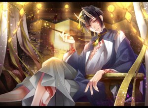 Rating: Safe Score: 6 Tags: horns male mikazuki_munechika shian_(ymao) tattoo touken_ranbu User: charunetra