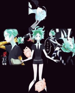 Rating: Safe Score: 0 Tags: antarcticite cinnabar houseki_no_kuni nishida_asako phosphophyllite sword User: xiaowufeixia
