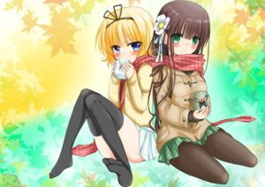 Rating: Safe Score: 43 Tags: gochuumon_wa_usagi_desu_ka? kirima_sharo pantyhose sweater thighhighs ujimatsu_chiya zero-theme User: Mr_GT