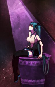 Rating: Questionable Score: 18 Tags: bettols breasts hatsune_miku open_shirt thighhighs vocaloid User: charunetra