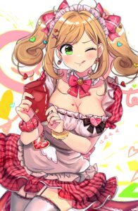 Rating: Safe Score: 35 Tags: cleavage maid satou_shin stockings the_idolm@ster the_idolm@ster_cinderella_girls thighhighs tomato_omurice_melon User: Mr_GT