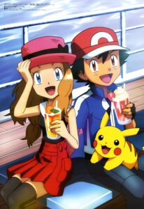 Rating: Safe Score: 30 Tags: pikachu pokemon satoshi_(pokemon) serena_(pokemon) thighhighs User: drop