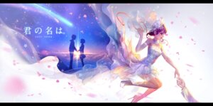 Rating: Safe Score: 32 Tags: dress heels kimi_no_na_wa miyamizu_mitsuha pcw wedding_dress User: Mr_GT