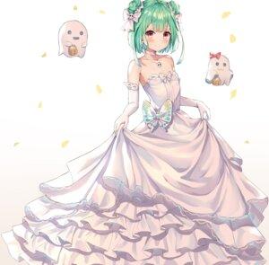 Rating: Questionable Score: 35 Tags: cleavage dress hokori_sakuni nijisanji uruha_rushia wedding_dress User: Dreista