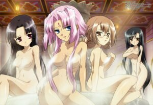 Rating: Questionable Score: 69 Tags: breast_hold hiratsuka_tomoya kanu koihime_musou megane naked onsen ryomou shuutai sonken User: Elow69