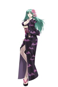 Rating: Safe Score: 40 Tags: capcom cleavage cross_edge dark_stalkers morrigan_aensland nakamura_tatsunori yukata User: Radioactive
