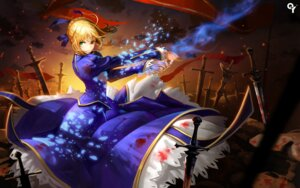 Rating: Safe Score: 62 Tags: blood dress fate/stay_night liang_xing saber sword User: Mr_GT