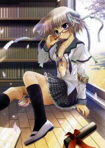 Rating: Questionable Score: 38 Tags: bra hisuitei izumi_tsubasu megane open_shirt seifuku User: es