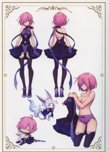 Rating: Questionable Score: 66 Tags: breast_hold chibi dress fate/grand_order fate/stay_night fou_(fate/grand_order) heels mash_kyrielight megane pantsu tagme thighhighs topless User: kiyoe