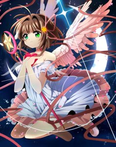 Rating: Safe Score: 11 Tags: card_captor_sakura dress fumiko_(miruyuana) kinomoto_sakura weapon wings User: charunetra