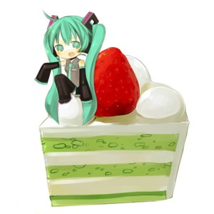 Rating: Safe Score: 8 Tags: akisame_kou chibi hatsune_miku vocaloid User: yumichi-sama