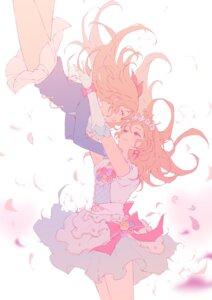 Rating: Safe Score: 20 Tags: aikatsu! dress nagahara oozora_akari seifuku skirt_lift yuri User: animeprincess