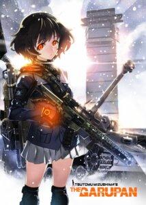 Rating: Safe Score: 45 Tags: akiyama_yukari girls_und_panzer gun matsuryuu seifuku User: Mr_GT