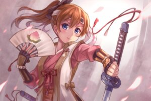 Rating: Safe Score: 38 Tags: armor japanese_clothes kousaka_honoka love_live! miazi_yayo sword User: Mr_GT