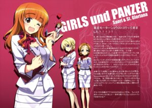 Rating: Safe Score: 36 Tags: cleavage darjeeling girls_und_panzer heels kurashima_tomoyasu nishizumi_miho orange_pekoe takebe_saori waitress User: drop