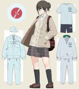 Rating: Safe Score: 10 Tags: character_design gym_uniform kumanoi_(nichols) seifuku sweater User: Radioactive
