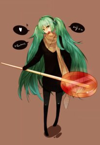 Rating: Safe Score: 14 Tags: h2so4kancel hatsune_miku headphones pantyhose vocaloid User: eridani