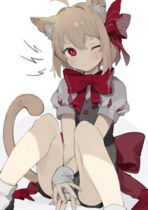 Rating: Safe Score: 27 Tags: animal_ears nekomimi rumia sh tail touhou User: Mr_GT