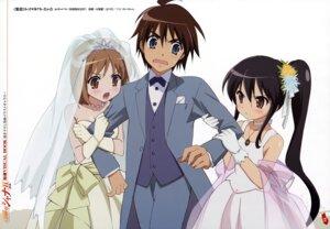 Rating: Safe Score: 15 Tags: dress ootsuka_mai sakai_yuuji shakugan_no_shana shana wedding_dress yoshida_kazumi User: vita