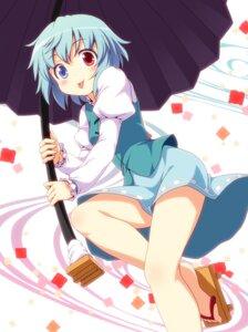 Rating: Safe Score: 23 Tags: heterochromia tatara_kogasa touhou yamasan User: Nekotsúh