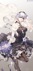 Rating: Safe Score: 65 Tags: cleavage dress nier_automata see_through thighhighs water0889 yorha_no.2_type_b User: Mr_GT