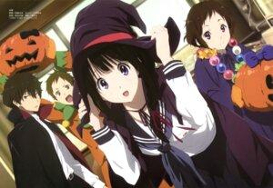 Rating: Safe Score: 74 Tags: chitanda_eru fukube_satoshi halloween hyouka ibara_mayaka nishiya_futoshi oreki_houtarou seifuku User: Jigsy