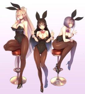 Rating: Questionable Score: 57 Tags: animal_ears bunny_ears bunny_girl heels higuchi_kaede kagami_uekusa nijisanji pantyhose shizuka_rin tail tsukino_mito User: Nepcoheart