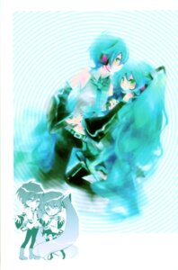 Rating: Safe Score: 9 Tags: genderswap hatsune_miku hatsune_mikuo shimeko vocaloid User: Radioactive