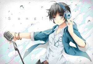 Rating: Safe Score: 13 Tags: dress_shirt headphones jpeg_artifacts megane rakugakiii User: RyuZU
