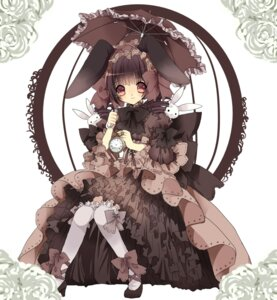 Rating: Safe Score: 37 Tags: animal_ears bunny_ears dress koge_donbo lolita_fashion mihatarou User: charunetra