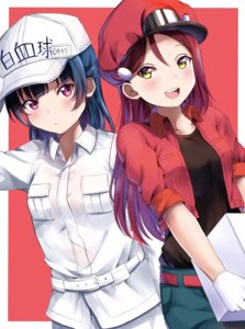 Rating: Safe Score: 28 Tags: cosplay crossover hataraku_saibou love_live!_sunshine!! mia_(fai1510) sakurauchi_riko tsushima_yoshiko User: Spidey