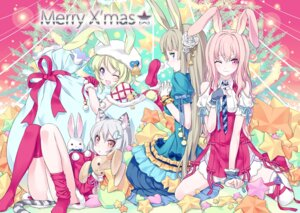 Rating: Questionable Score: 21 Tags: animal_ears bunny_ears christmas dress kousaki_rui loli nekomimi pantsu tail thighhighs User: fairyren
