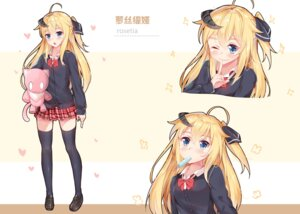 Rating: Safe Score: 23 Tags: horns seifuku sin-poi sweater thighhighs User: RyuZU
